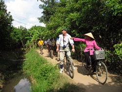Cycling in Mekong
