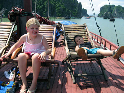 Family holiday in Halong Bay